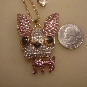 Betsey Johnson Cute Chihuahua Necklace